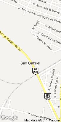 rua carlos antunes,62, rodoviaria, sao gabriel, rs, brasil