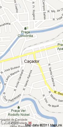 rua jose bonifacio, 13, centro, cacador, sc, brasil